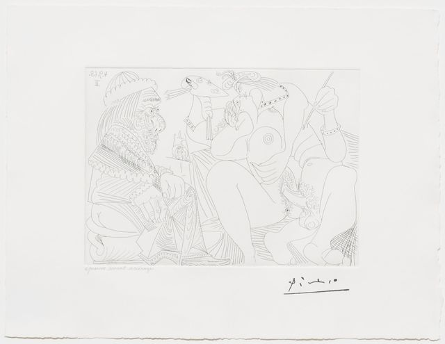 Pablo Picasso, 'Raphael et la Fornarina XVI..., from the 347 Series', 1968, Leslie Sacks Gallery