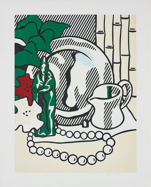 Roy Lichtenstein, 'Still Life with Figurine, from Six Still Lifes Series', 1974, Print, Lithograph and screenprint in colours, on BFK Rives paper, with full margins., Phillips