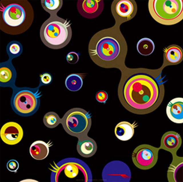 Takashi Murakami, 'Jellyfish Eyes Black 3', 2011, Print, Offset lithograph, Dope! Gallery
