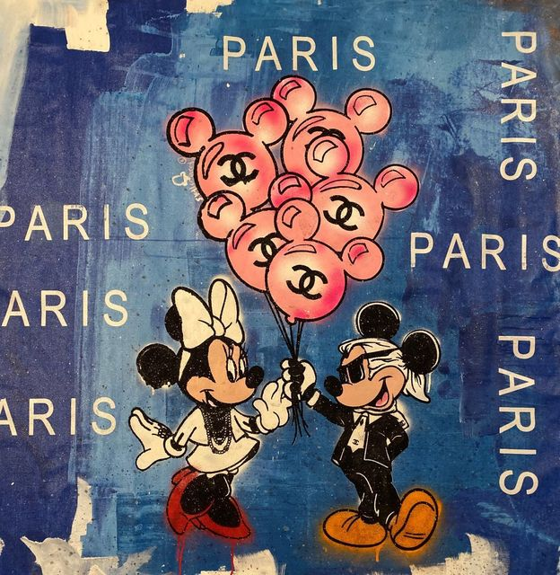 , 'Mickey and Minnie's Balloons in Paris Blue,' 2019, Avant Gallery