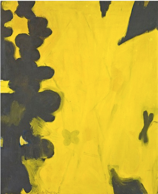 , 'Charcoal-Black and Yellows,' 1952, Berry Campbell Gallery