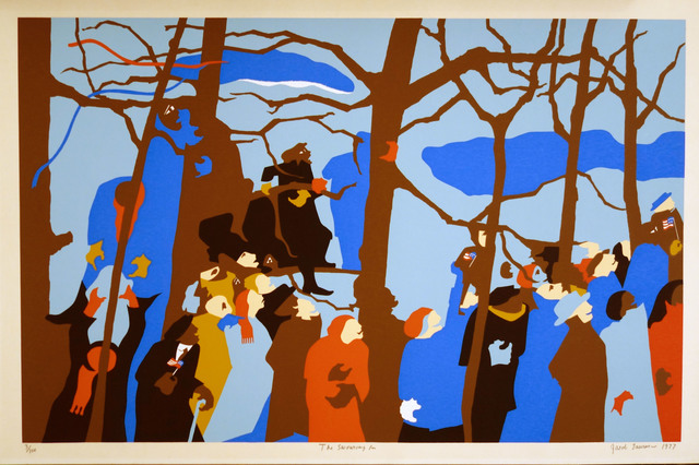 Jacob Lawrence, 'The Swearing In', 1977, Bill Hodges Gallery