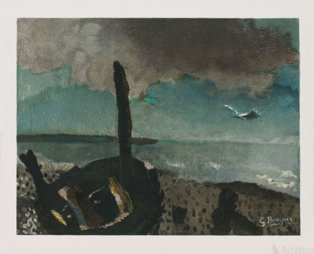 Georges Braque, 'Boat on a Shore in Brittany', (Date unknown), Print, Stone Lithograph, ArtWise