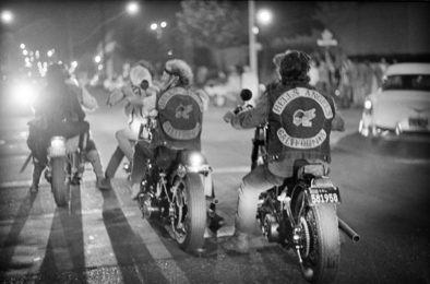 Hell's Angels at Night, Haight Street, 1967