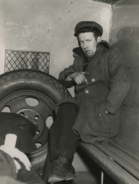 , 'John Wade, Arsonist, After Police Line-Up in Patrol Wagon,' 1940, Howard Greenberg Gallery
