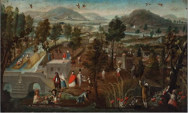 , 'Casta. De Español e India. Mestizo,' , Diptych Fine Arts