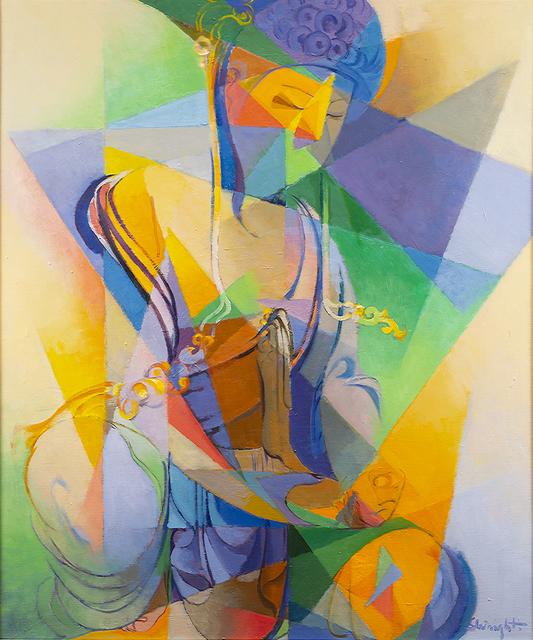 Stanton MacDonald-Wright, 'Shō-Kannon', 1961, Painting, Oil on canvas, Peyton Wright Gallery