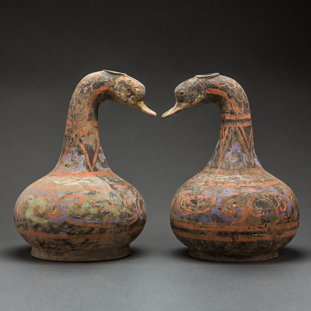 Unknown Chinese, 'Pair of Han Duck Vessels', 206 BCE-221, Barakat Gallery