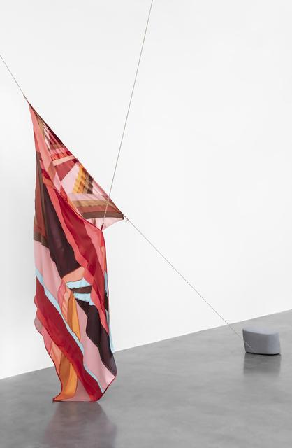 , 'Lastre volcánico con ventana roja,' 2019, kurimanzutto