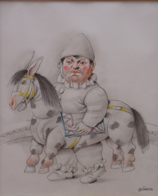 , 'Clown with horse,' 2007, Galeria El Museo