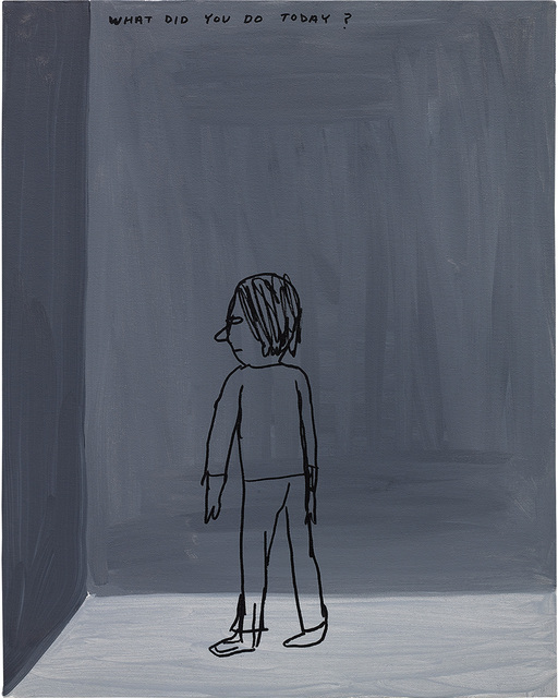 David Shrigley, 'What did you do today?', 2000, Painting, Acrylic on canvas, Phillips