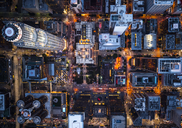 , 'Aerial Views Block Design  Us Bank,' 2017, aQur Gallery
