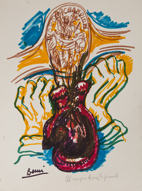 , 'Al campeón le ponen los guantes,' 1977, Cosmocosa