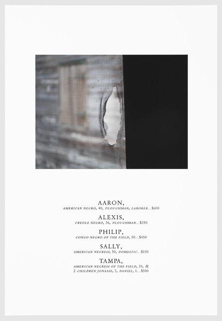 , 'TAMPA,' 2016, Arnika Dawkins Gallery