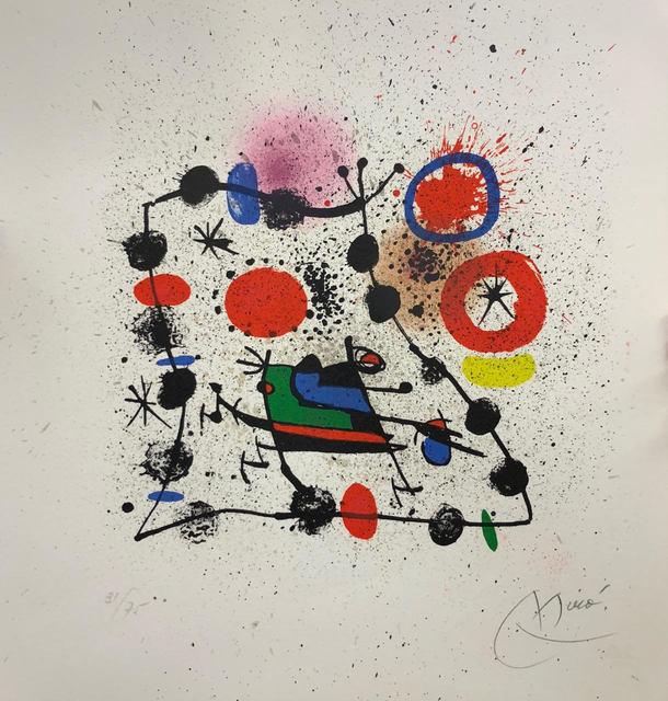 , ' Catálogo para la exposición Miró,' 1970, Artgráfico