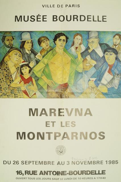 Marie Vorobieff Marevna, 'Marevna et le Martparnos, Musee Bourdelle, Paris', 1985, Roseberys
