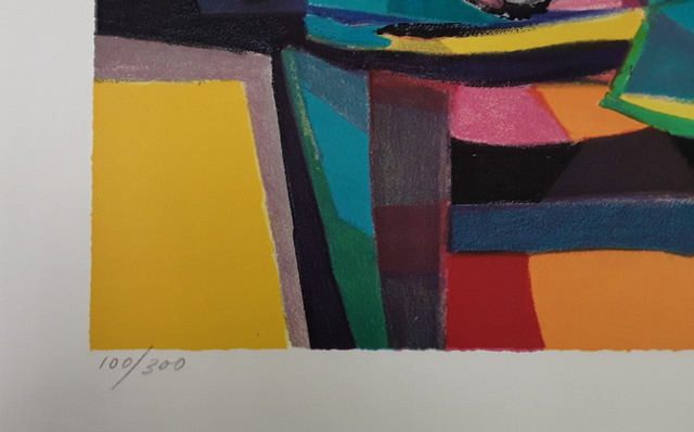 Marcel Mouly, 'Nappe Vert et Compotier', Unknown, Print, Lithograph on Paper, Baterbys