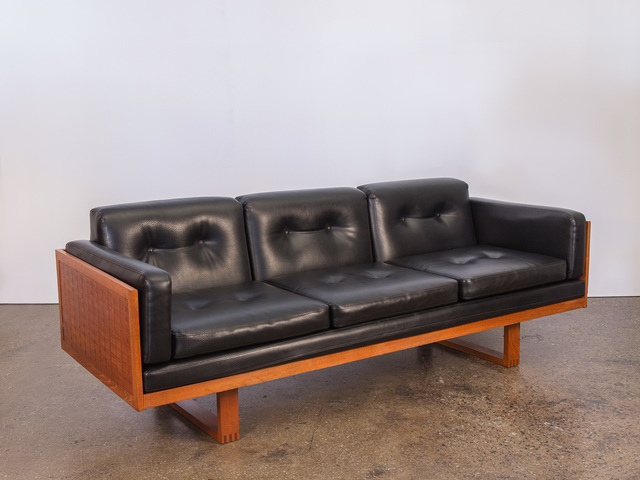 , 'Basket Weave Black Sofa,' ca. 1960, Open Air Modern