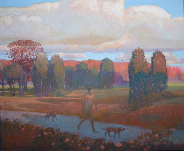 , 'The Walker and Wild Roses,' 2014, Greg Thompson Fine Art