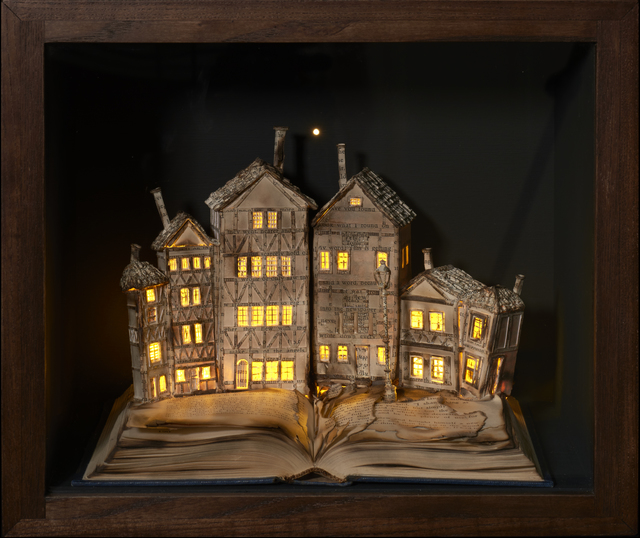 Su Blackwell, 'The Little Match Girl', 2017, Sculpture, Book cut sculpture in wooden box, with lights, Long & Ryle