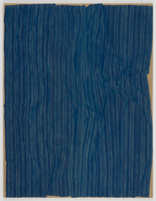 , 'Loosely Laid Out Large Blue Fabric,' 2013, James Cohan