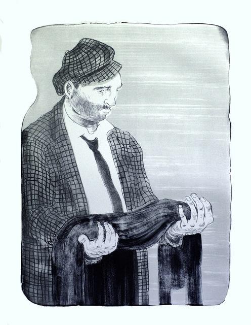 Nicole Eisenman, 'Man Holding his Shadow', 2011, Print, Lithograph, Jungle Press