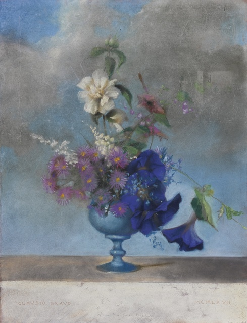 Claudio Bravo, 'Flowers', Drawing, Collage or other Work on Paper, Pastel on paper, Sotheby's