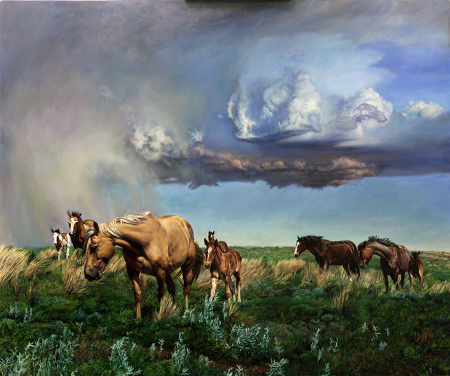 Jeff Dodd, 'Rodeo Stock - Mothers and Babies', 2020, Painting, Oil on Panel, M.A. Doran Gallery