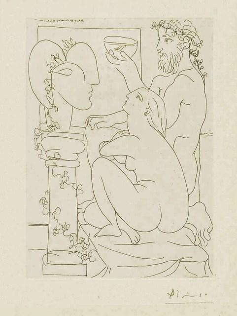 Pablo Picasso, 'Sculpteur avic Coupe et Modele accroupi', 1933, Altmans Gallery