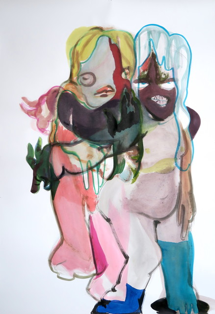 Simona Deflorin, 'ohne Titel', 2020, Drawing, Collage or other Work on Paper, Aquarell and ink on paper, Lakeside Gallery