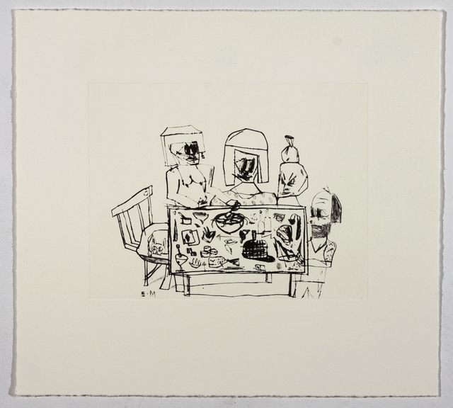 Eddie Martinez, 'Against the Wind', 2009, Print, Suite of 7 drypoints on Hahnemuhle Copper Plate paper with lithography printed colophon and paper folio case, David Krut Projects