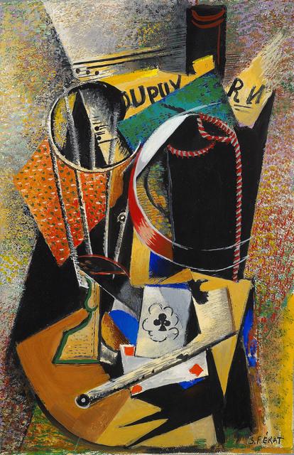 Serge Férat, 'Composition à la pipe et au verre / Hommage à René Dupuy', Galerie Le Minotaure