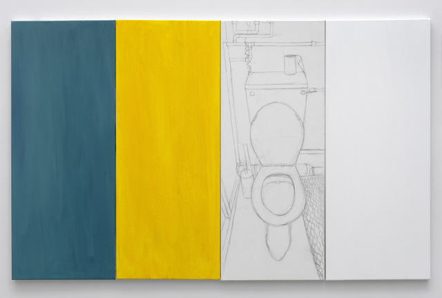 Juliette Blightman, 'Turquoise, Yellow, Nicole, White', 2020, Painting, Acrylic and pencil on canvas, Galerie Fons Welters