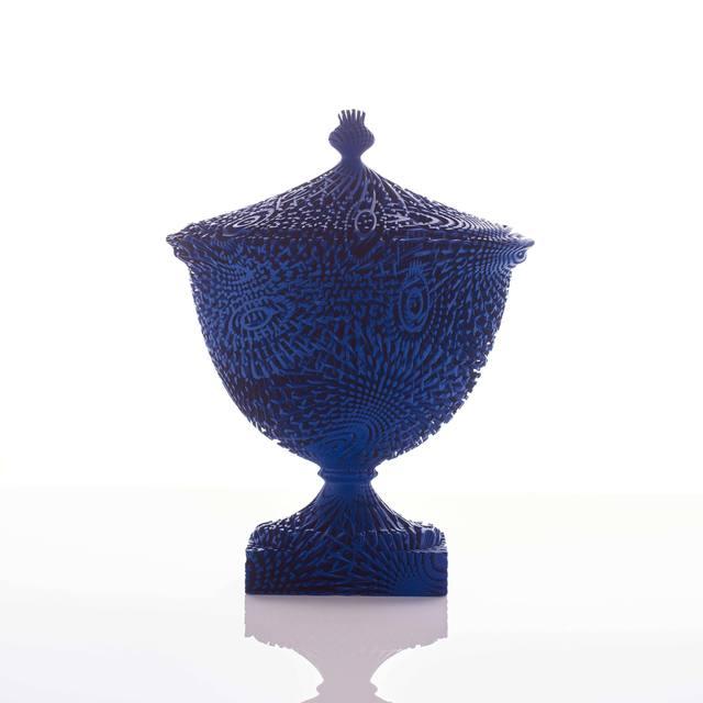 , 'Curved Blue Bloom,' 2015, Adrian Sassoon