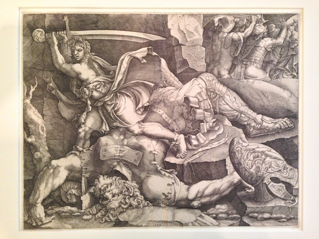 , 'David Cutting Off the Head of Goliath (after Giulio Romano),' 1540, Pia Gallo