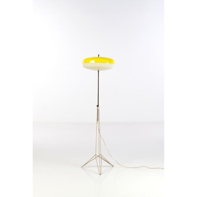 Arredoluce, 'Floor Lamp', Around 1950, Design/Decorative Art, Métal laqué, laiton et perspex, PIASA