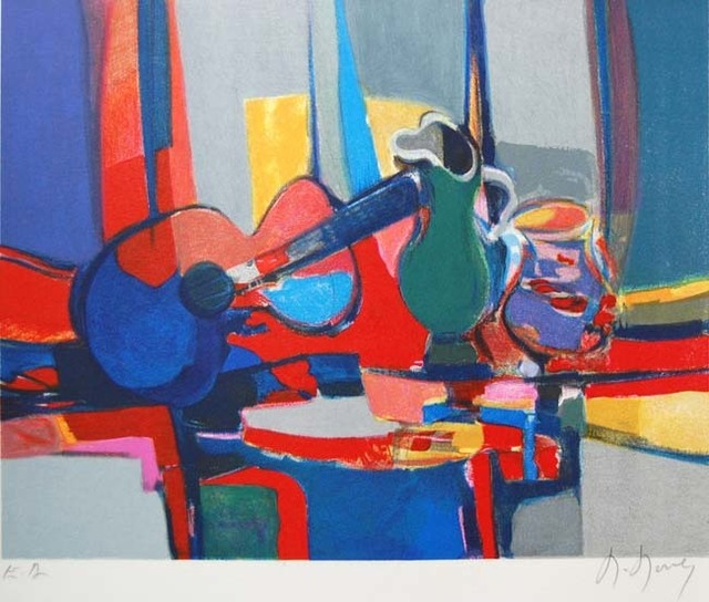 Marcel Mouly, 'Le Cavalier', 1954, Print, Lithograph on Wove Paper, Baterbys