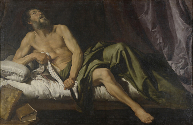 , 'Death of Cato,' ca. 1620, Robilant + Voena