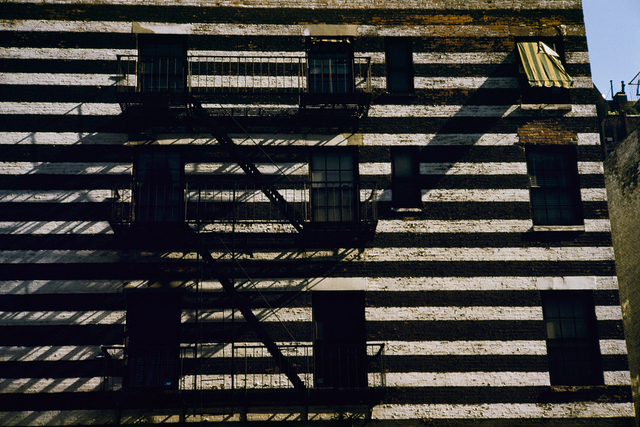 Werner Bischof, 'Striped Building with Fire Escape, New York, USA', 1953, Photography, 2019 Super Chromogenic print, David Hill Gallery