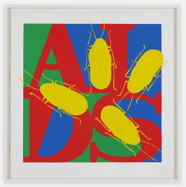 , 'Untitled (AIDS with Yellow Cockroaches),' 1993, Mitchell-Innes & Nash