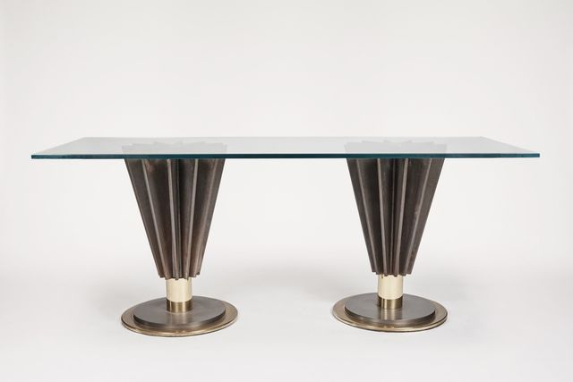 , 'Rectangular Glass Top Table,' ca. 1970, Maison Gerard