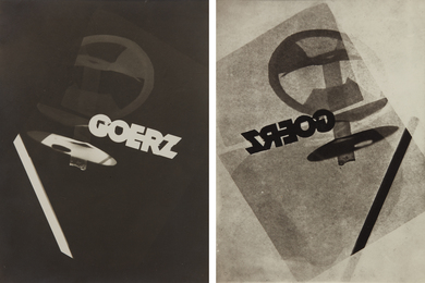 Photogram studies for Goerz (negative and positive)