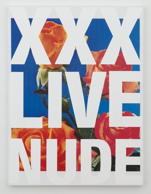 , 'XXX LIVE NUDE,' 2016, Castor Gallery