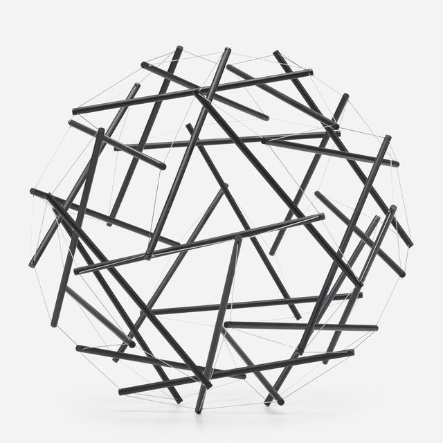R. Buckminster Fuller, '30 Strut, 3 Frequency (3v) Geodesic Tensegrity Sculpture Dome', 1980, Rago/Wright