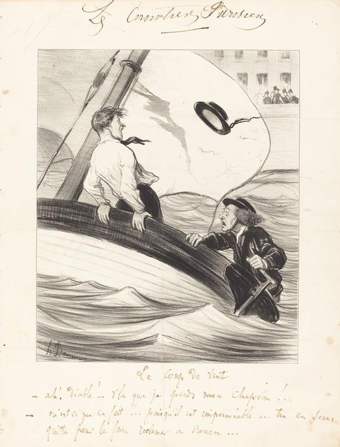 Honoré Daumier, 'Le Coup de vent', 1843, National Gallery of Art, Washington, D.C.