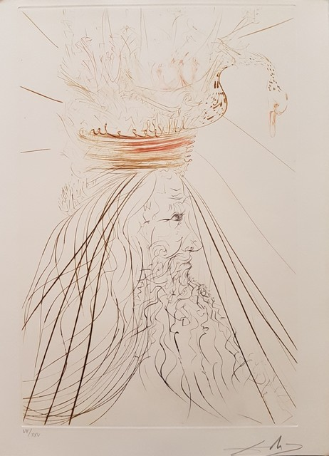 ", 'Illustration from ""Tristan and Isolde"",' 1969, Wallector"