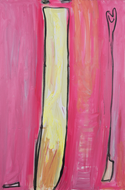 , 'Asperagus - 1 Proust, pink, yellow, beige, black,' 2011, Charim Galerie