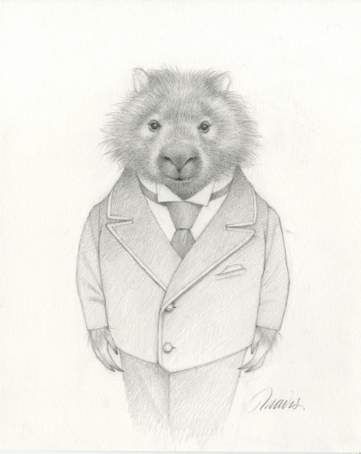 , 'Marvin the Wombat Drawing,' 2019, Haven Gallery