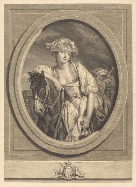 Jean Charles Levasseur after Jean-Baptiste Greuze, 'La laitiere', 1783, Print, Etching and engraving, National Gallery of Art, Washington, D.C.