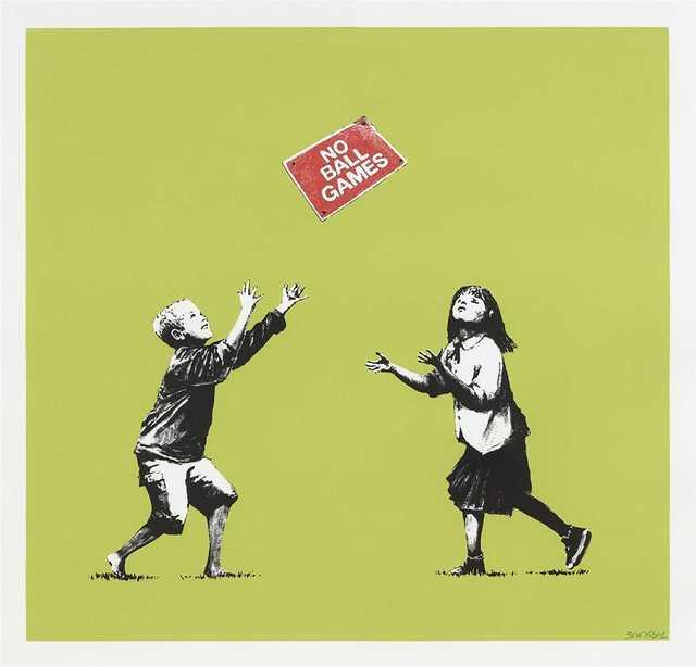 Banksy, 'NO BALL GAMES', 2009, Tate Ward Auctions
